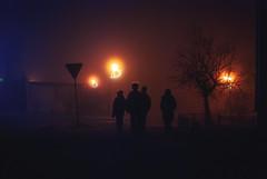 Holiday Soup (ewitsoe) Tags: fog mist heavy weather christmas family wlodawa poland ewitsoe nikon street city lights foggy eve holiday spooky atmosphere tree winter polska nikond80 35mm
