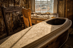 Graveyard Shift (atenpo) Tags: auebodie2016 abandoned ghost town bodie eastern sierra gold rush mining morgue casket death historical park state ca california highway 395 bridgeport lee vining bodey mortuary funeral home