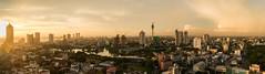 Colombo Luftbild Sonnenuntergang