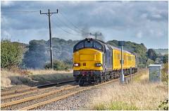 37611 & 37608. Rushey Crossing ... (Alan Burkwood) Tags: retford rushey crossing europhoenix 37611 37608 test train diesel locomotive derbynevillehill
