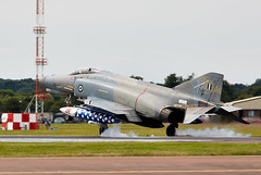 Phantom (Bernie Condon) Tags: riat riat16 airtattoo tattoo ffd fairford raffairford airfield aircraft plane flying aviation display airshow uk 2016 mcdonnell douglas f4 phantomii haf greek hellenicairforce military warplane fighter bomber