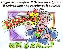 Inter caecos regnat Orban (Moise-Creativo Galattico) Tags: editoriali moise moiseditoriali editorialiafumetti giornalismo attualit satira vignette orban ungheria referendum