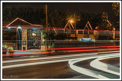 Red and White (D.k.o.w) Tags: nightshot lighttrail red white carlights elkinn dundonald curve uppernewtownardsroad comberroad bar pub canon7dmkii