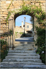 Through The Archway (Mabacam) Tags: 2016 france provence grignan rhonealpes commune village medievalvillage botanicalvillage svign madamedesvign madamedegrignan arch archway steps architecture buildings
