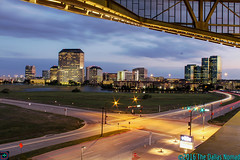A Night in Las Colinas (The Dallas Nomad) Tags: irving texas las colinas skyline sky lights convention center sunset lightstream infrastructure city cityscape