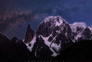 Ladyfinger Peak and the Milky way ...!!