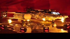 Y-wing - On the landing pad (dmaclego) Tags: lego star wars fighter a new hope rebel spaceship