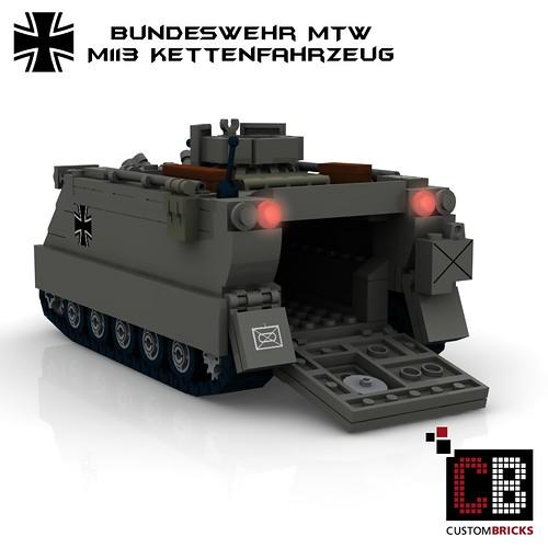 CustomBricks Sticker Decals Bundeswehr LKW Plane grau