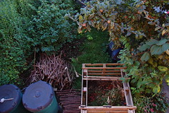 Looking Down on the Front Garden - October 2016 (basswulf) Tags: frontgarden compost compostbin d40 1855mmf3556g lenstagged unmodified 32 image:ratio=32 permissions:licence=c 20161005 201610 3008x2000 lookingdownonthegarden garden normcres oxford england uk
