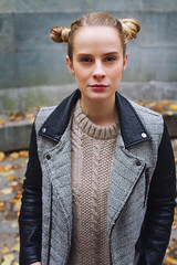 M (alexrgb5) Tags: portrait woman beautiful outdoor street cold autumn people