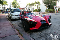 Polaris Slingshot front (ND-Photo.nl) Tags: miami 2016 supercar car sport sports hypercar hyper super southbeach south beach polaris slingshot 3 wheel bike red rood