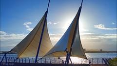 Cardiff Sails (Ian Gedge) Tags: uk britain wales cymru coast cardiff bay barrage sails