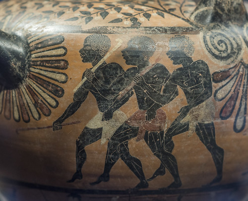 Caeretan hydria representing Herakles attacking Busiris, 6