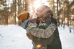 Young hipster couple hugging each other in winter forest (Dumbonie) Tags: couple winter forest happy young fun love people white path snow friends walking background outdoor park nature female caucasian travel season landscape tree happiness two together snowy christmas valentine date stvalentineday hipster feelings lovestory hugging hug belarus