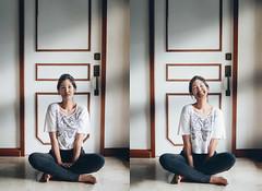 99/365 (itskatrinayu) Tags: self portrait woman shadow light window naturallight 365 project smile
