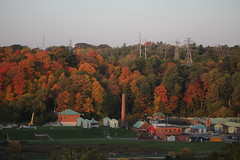 Colours in the Valley (Quistian) Tags: donvalley autumn leaside bridge treatment 2016 201610 20161018