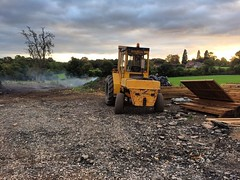 """Our old school forklift looking out over the yard tonight ! #wardenstreecare @wardensfencing <a style=""""margin-left:10px; font-size:0.8em;"""" href=""""http://www.flickr.com/photos/137723818@N08/30409887525/"""" target=""""_blank"""">@flickr</a>"""