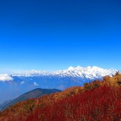 Approaching Laurebina Yak, Gosainkunda trek, Langtang national park, Nepal