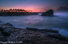 Tranquility.... (Prayudi Hartono) Tags: sea beach rock sunrise twilight wave westjava d800 jawabarat ujunggenteng