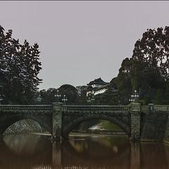 an imperial corner of japan (Fat Burns ☮) Tags: bridge house water japan landscape tokyo palace imperial emperor kokyo japanesehouse chiyoda japanimperialpalace traditionaljapanesebuilding rememberthatmomentlevel1