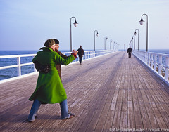 Baltic Sea - pier in Orlowo (Poland) ( www.borais.com) Tags: travel weather coast pier europe poland polska landmark balticsea polen ostsee danzig wetter seasideresort pommern seabridge kste gdynia orowo seebrcke baltyk ostseekste misdroy westpommern balticcoast polnischekste danzigerbucht adlershorst