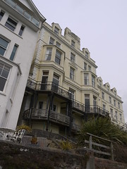 Fowey Skyscraper (Worthing Wanderer) Tags: grey coast spring cornwall cloudy harbour path windy estuary april fowey dull southwestcoastpath