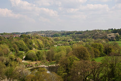 View From Pontcysyllte Aqueduct 2 (Alastair Cummins) Tags: bridge sunset england water wales marina train reflections river cow boat canal geese scenery steps railway tunnel goose steam float nationaltrust riverdee chirkcastle aqauduct nikond90