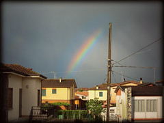 Rainbow after the storm - arcobaleno dopo la tempesta (alby_yaris) Tags: italy storm canon rainbow italia powershot after thunderstorm arcobaleno temporale tempesta s95