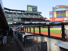 Citi Field, 05/16/13: view from the visitors' dugout (IMG_0903) (Gary Dunaier) Tags: newyorkcity baseball stadiums queens mets queensborough newyorkmets queensboro ballparks flushing stadia queenscounty citifield