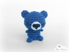 Blue Bear in Navy (denae.amiamore) Tags: cute animals stuffed handmade crochet adorable plush yarn plushies kawaii amigurumi