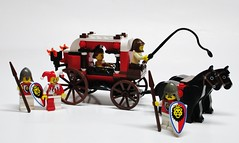 Lion Carriage (Julius No) Tags: black men castle lego lion falcons historica