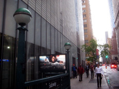Superman 0371 (Brechtbug) Tags: street new york city nyc blue red man work dark comics painting movie poster square book dc paint theater comic near steel character alien bat working broadway s superman billboard advertisement adventure hero superhero billboards knight worker shield times insignia krypton 46th 2013