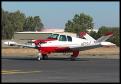 Beech Bonanza (Dusty_73) Tags: california ranch b usa america airplane flying aircraft aviation united central flight states harris beechcraft 35 beech bonanza b35
