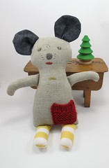 Linen Mouse (MeandTex) Tags: mouse handmade softie softtoy ecofriendly meandtex