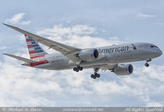American Airlines Boeing 787-8 (N813AN) (Michael Davis Photography) Tags: kord ord chicago chicagoohare chicagoillinois aa american americanairlines boeing boeing787 7878 n813an aviation photography flight jet airplane airliner ramp gate arrival oneworld outdoor aircraft vehicle