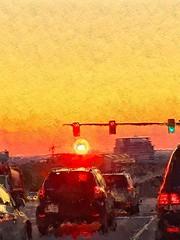 A bit of photo art.... (tomk630) Tags: virginia hill valley redlite nature sunrise light usa colors