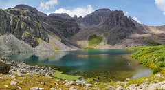 Cathedral Lake - Ashcroft, Colorado (BernieErnieJr) Tags: cathedrallake aspen colorado greatphotographers teamsony rockymountains sonya77mkii carlzeiss2470mm water reflection mountains elkmountainrange clouds ashcroft