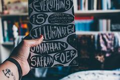 Everything is illuminated. (achterbahnmdchen) Tags: jonathansafranfoer everythingisilluminated book books hands tattoo room reading colours colors achterbahnmdchen bokeh