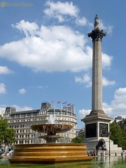 Nelsons Column and fountain (sciencebase) Tags: london siteseeing summer city