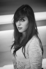 Elodie : Portrait : Nikon D600 : Nikkor 85 mm 1.8 G AFS : Black and white (Benjamin Ballande) Tags: elodie portrait nikon d600 nikkor 85 mm 18 g afs black white