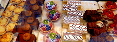 WINDOW SHOPPING (PROMIGEO) Tags: cake patisserie cream fruit window food shopping sweet cherries strawberries slices