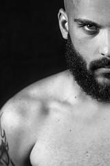 Synthesis  //Series (Fernando Lpez Cabaero) Tags: blackandwhite retrato portrait man hombre barrotes barba mirada ojo nikon d600 luz oldportrait