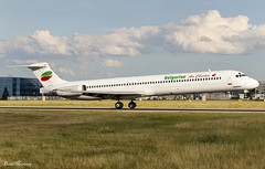 Bulgarian Air Charter MD-82 LZ-LDN (birrlad) Tags: prg prague international airport czech republic aircraft aviation airplane airplanes airline airliner airlines airways approach arrival arriving finals landing runway mcdonnell douglas md lzldn md82 bulgarian air charter