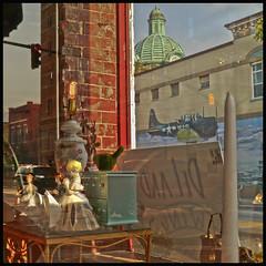 Shop Window 2016 #26 (hamsiksa) Tags: stilllife windows shopwindows storefronts found reflections florida deland antiques murals subtropicpeninsula