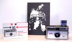 Kodak Instamatic 104 camera with ad and manual (camera.etcetera) Tags: kodak 126 cartridge camera usa ad advertisement manual