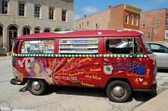 Art Van, Mount Carroll Illinois (Cragin Spring) Tags: van vwvan volkswagen art artwork vehicle building red mtcarroll mountcarrollil mountcarrollillinois mountcarroll midwest carrollcounty illinois il smalltown unitedstates usa unitedstatesofamerica
