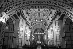 Cathedral (sophs123.) Tags: catedral cathedral lima peru sudamerica latinoamerica south america blackandwhite bw symmetry architecture travel summer canon canon400d