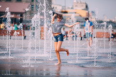 Childhood in the fountain (DavydchukNikolay) Tags: childhood fountain               happines happy couple girl love water smile