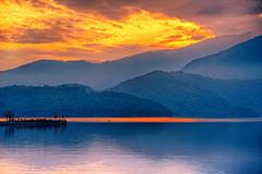 (M.K. Design) Tags:                             taiwan nantou puli yuchi sunmoonlake sunset sunrise longexposure tele nikon nikkor afs 105mmf14e ed nature hdr landscapes scenery fireofclouds lake water colorful red orange primelens