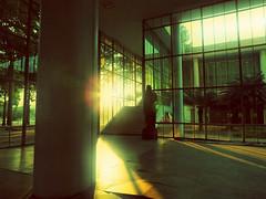 Hall do Prdio da Reitoria - Universidade Federal do Rio de Janeiro (Ricardo Prati) Tags: photography light sun sunset architecture art silence riocity brazil fotografia luz sol entardecer arquitetura arte silencio riodejaneiro brasil statue esttua hall solido